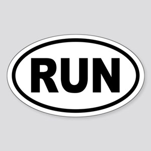 Basic Running Oval Sticker